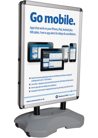 National Rail Enquiries Go Mobile Advert design